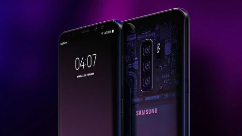 Mẫu concept Galaxy S10 với ba camera sau.