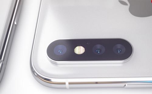 Hajek đưa ra nhiều phương án khác nhau về vị trí của đèn flash LED, như nằm bên phải camera (ảnh trên) hoặc nằm giữa các ống kính.