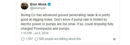 Chia sẻ của Elon Musk về việc giải cứu đội bóng Thái Lan.