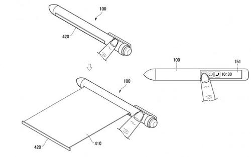 Bút LG có hai màn hình.