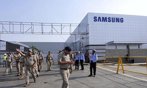 Nhà máy smartphone của Samsung ở Noida, Ấn Độ.