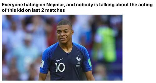 Mbappe bị chế giễu vì ăn vạ giống Neymar - ảnh 4