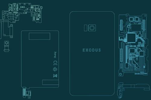 Sơ đồ linh kiện smartphone Exodus của HTC.