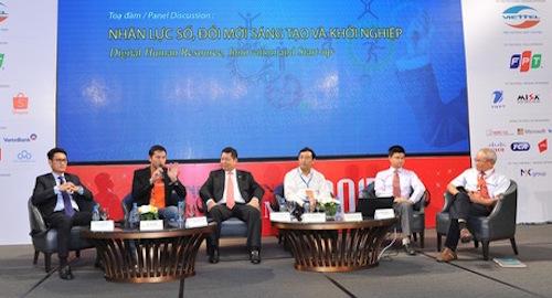 Một phiên thảo luận tại Vietnam ICT Summit 2017.