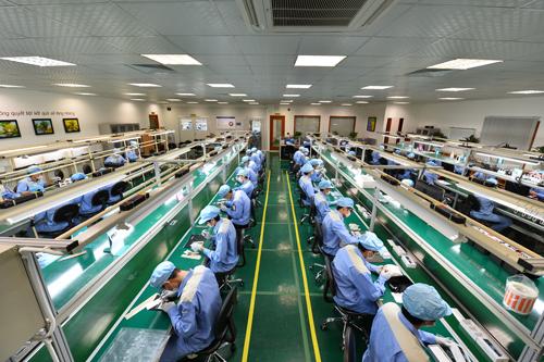 Nhà máy điện tử của Bkav tại Hà Nội.