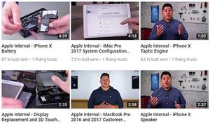 Video quy trình sửa iPhone, MacBook của Apple bị rò rỉ
