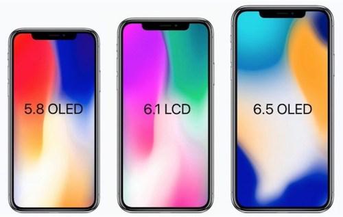 Phác hoạ ba mẫu iPhone 2018 dựa trên các tin đồn.
