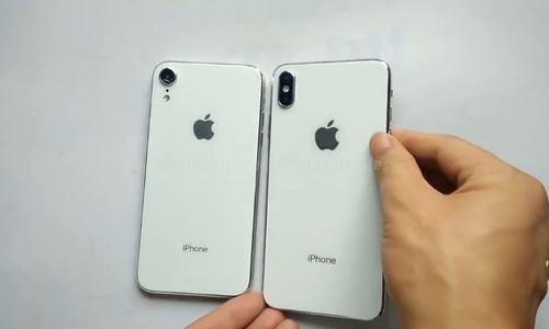 Mô hình iPhone 6,1 inch và 6,5 inch xuất hiện trong video mới