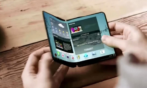 Một ý tưởng về điện thoại gập của Samsung.