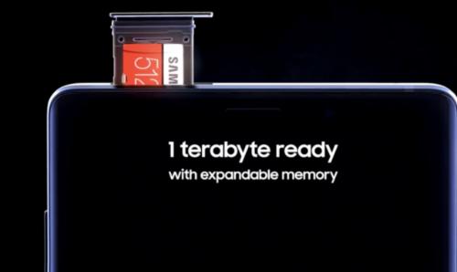 Ngoài phiên bản 512GB, Galaxy Note9 còn bản bộ nhớ trong 128GB.
