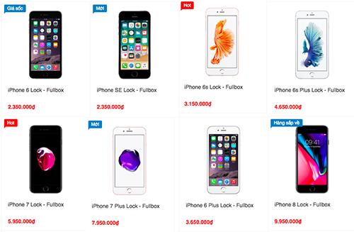 Nhiều cửa hàng tăng giá iPhone khóa mạng.