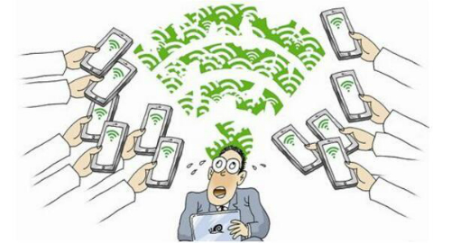 Biếm họa về trào lưu ăn cắp mạng W-Fi tại Trung Quốc.