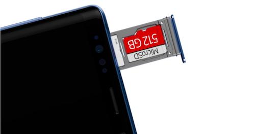 Cộng với thẻ nhớ mở rộng, Note9 gián tiếp trở thành điện thoại có dung lượng 1 TB.