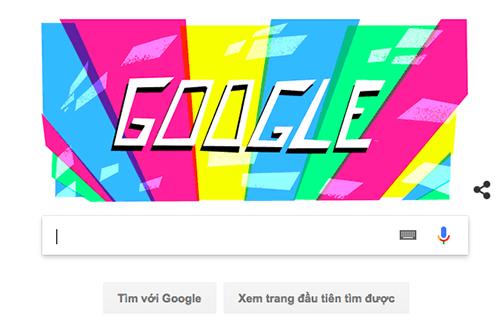 Giao diện tranh tìm kiếm Google với Doodle chào đón Asiad 2018.