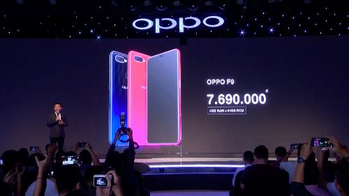 Oppo tung mẫu F9 ở phân khúc tầm trung, mức giá 7,69 triệu đồng.