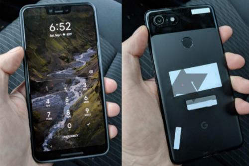 Bản thử nghiệm của Google Pixel 3 XL với màn hình tai thỏ. Ảnh: Android Police.