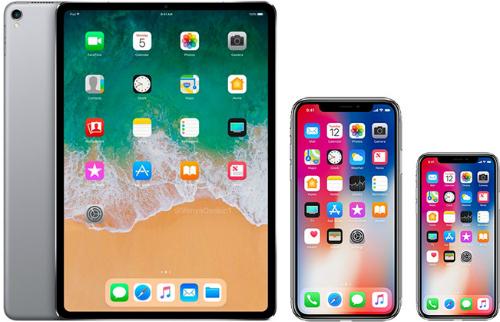 Ảnh dựng về iPad Pro mới bên cạnh iPhone Xs Max và iPhone Xs. Ảnh: Macrumors.