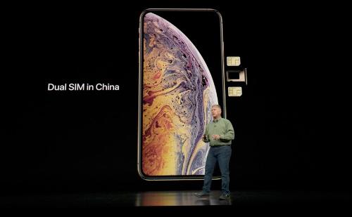 Apple đặc biệt đưa ra phiên bản hai sim vật lý cho thị trường Trung Quốc.