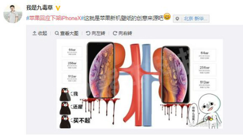 Thành viên Weibo này cho rằng hình ảnh hai quả thận là cảm hứng để Apple tạo ra màn hình nền cho iPhone mới.