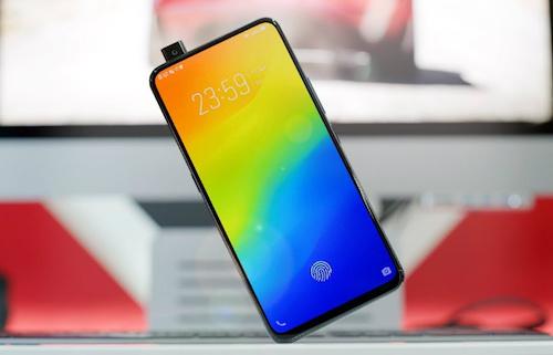 Vivo Nex S: Màn hình 6,59 inch tỷ lệ 86,2Vivo Nex S đứng thứ hai về viền mỏng trên smartphone.Để đạt được tỷ lệ này,camera trước được giấu vào cạnh trên và có thể bật lên khi cần dùng. Vivo cũng trang bị công nghệ cảm biến vân tay dưới màn hình thay vì chuyển về mặt lưng như nhiều smartphone Android khác.