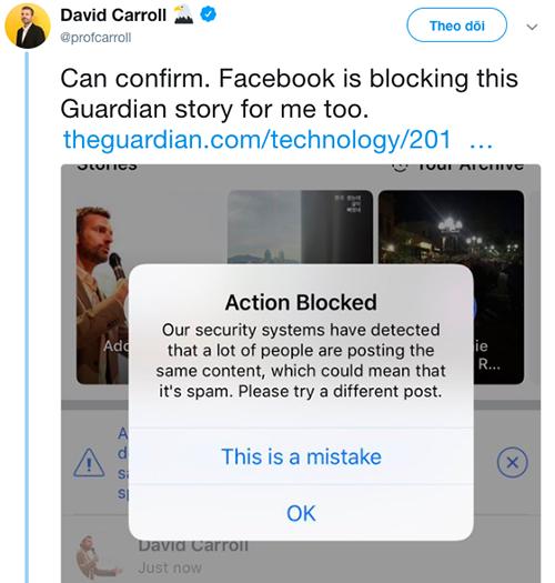 Facebook bị tố chặn người dùng chia sẻ thông tin mình bị tấn công - 1