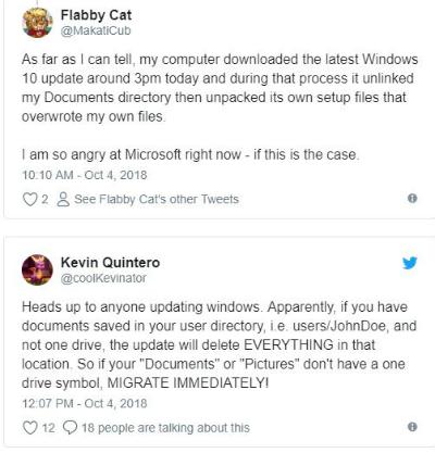 Nhiều người dùng báo cáo việc mất dữ liệu khi cập nhật Windows 10.