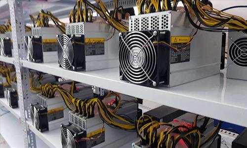 Một hệ thống máy đào tiền ảo.