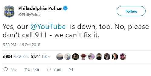 YouTube sập, người Mỹ gọi 911