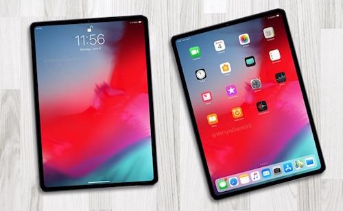 Ý tưởng iPad mới với viền mỏng hơn.