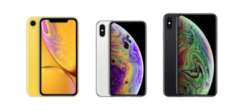 iPhone Xs và Xs sẽ được bán chính hãng ở Việt Nam cùng lúc với iPhone XR (bên trái).