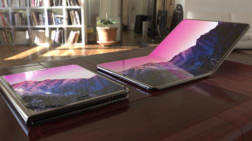 Một concept smartphone màn hình gập đôi. Ảnh: BGR.