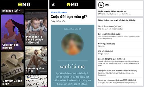 Ứng dụng OMG thu thập khá nhiều thông tin người dùng.
