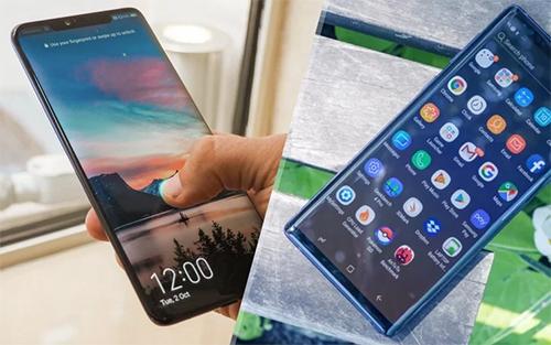 Các sản phẩm như Mate 20 Pro (trái) của Huaweigây sự chú ý lớn khi ra mắt không kém Note9.