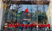 Apple Store đổi logo màu đỏ hưởng ứng ngày phòng chống AIDS