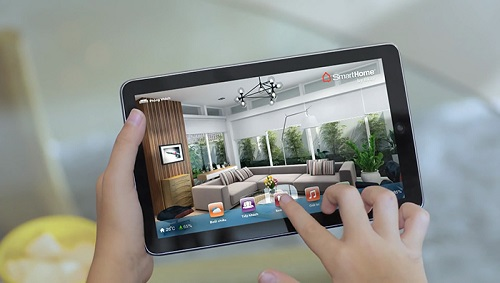 Thông qua giao diện 3D trực quan mô phỏng các thiết bị thực tế trên smartphone hay tablet, người dùng có thể dễ dàng kiểm soát và điều khiển ngôi nhà.