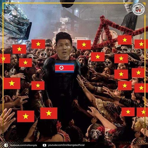 Người dùng mạng xã hội Việt Nam nói lời cảm ơn tới cầu thủPak Kwang-Ryong, người giúp Triều Tiên có một bàn thắng.