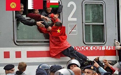 Ảnh chế hài hước khi Việt Nam vào vòng 1/8 Asian Cup