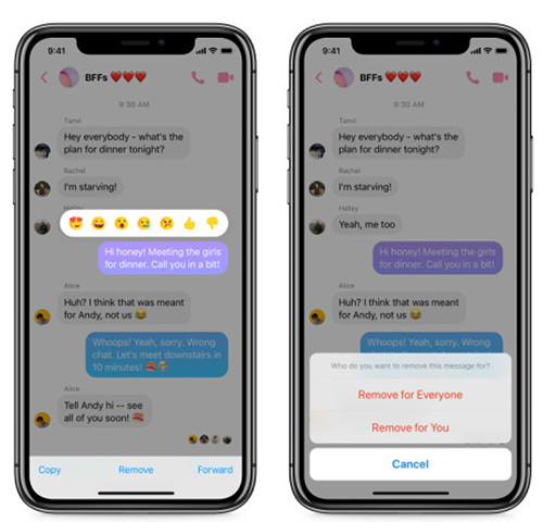 Facebook Messenger cho xóa tin nhắn đã gửi - Ảnh 1