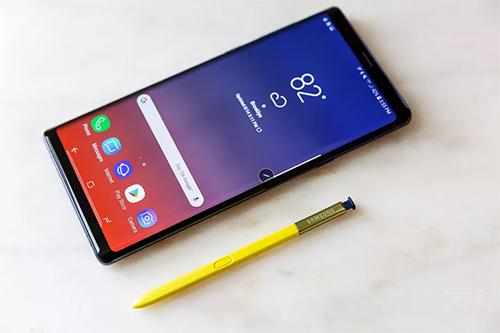 Bút S Pen trên Galaxy Note9.