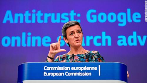 Ủy viên Margrethe Vestager của Liên minh châu Âu (EU). Ảnh CNN