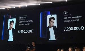 Oppo F11 Pro có giá 8,49 triệu đồng tại thị trường Việt Nam