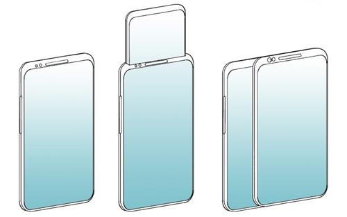 Bằng sáng chế smartphone có màn hình phụ trượt lên và trượt ngang của Oppo.