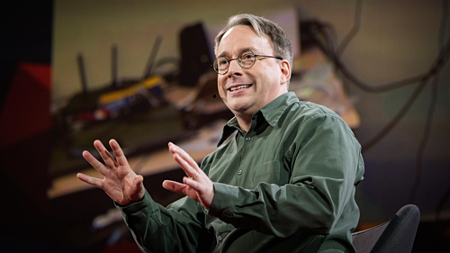 Linus Torvalds. Ảnh TED