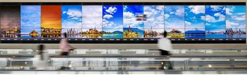Màn hình 16K siêu rộng của Sony tại sân bay Haneda từ 5 năm trước.