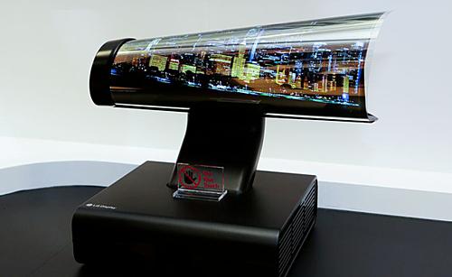 Nguyên mẫu smartphone màn hình cuộn của LG.