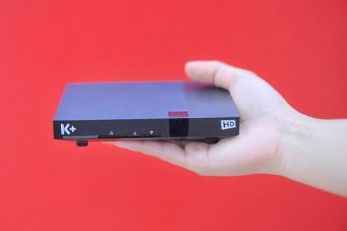 Đầu thu DTH của K+ có kích thước nhỏ gọn, cho hình ảnh chất lượng HD rõ nét