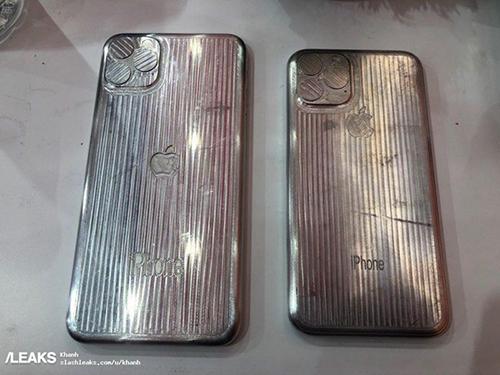 Mặt trước và mặt sau khuôn mẫu được cho là của iPhone XI và XI Max.