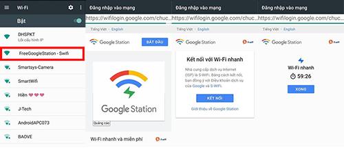 Các bước kết nối Wi-Fi của Google trên di động. Ảnh: Nguyễn Văn Tăng.