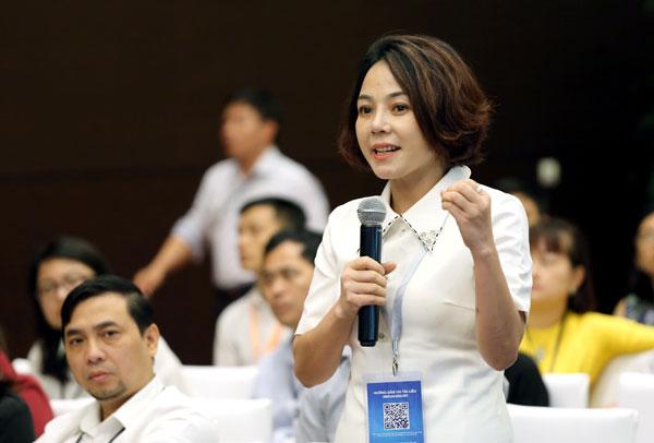 Bà Trịnh Thu Hà, Phó hiệu trưởng trường Cao đẳng Thương mại và Du lịch Hà Nội.