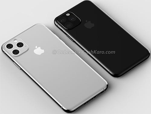 iPhone 11 sẽ có cụm camera vuông. Ảnh: @Onleaks